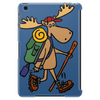 Awesome Funny Moose is Hiking Tablet