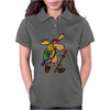Awesome Funny Moose is Hiking Womens Polo