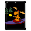 Awesome Funny Moose Kayaking Art Tablet
