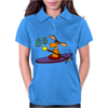 Awesome Funny Moose Kayaking Art Womens Polo