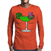 Awesome Funny Octopus in Margarita Mens Long Sleeve T-Shirt
