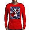 Awesome Funny Old English Sheepdog Playing Guitar Abstract Art Mens Long Sleeve T-Shirt