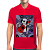Awesome Funny Old English Sheepdog Playing Guitar Abstract Art Mens Polo