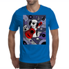 Awesome Funny Old English Sheepdog Playing Guitar Abstract Art Mens T-Shirt