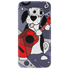 Awesome Funny Old English Sheepdog Playing Guitar Abstract Art Phone Case