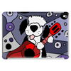 Awesome Funny Old English Sheepdog Playing Guitar Abstract Art Tablet