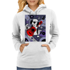 Awesome Funny Old English Sheepdog Playing Guitar Abstract Art Womens Hoodie