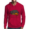 Awesome Funny Orange Cat and Grey Pot-Bellied Pig Mens Hoodie