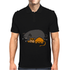Awesome Funny Orange Cat and Grey Pot-Bellied Pig Mens Polo