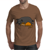 Awesome Funny Orange Cat and Grey Pot-Bellied Pig Mens T-Shirt