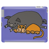 Awesome Funny Orange Cat and Grey Pot-Bellied Pig Tablet