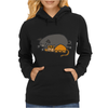 Awesome Funny Orange Cat and Grey Pot-Bellied Pig Womens Hoodie