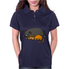 Awesome Funny Orange Cat and Grey Pot-Bellied Pig Womens Polo