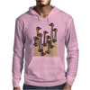 Awesome Funny Ostriches in the Sand Abstract Mens Hoodie