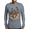 Awesome Funny Ostriches in the Sand Abstract Mens Long Sleeve T-Shirt