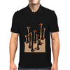 Awesome Funny Ostriches in the Sand Abstract Mens Polo