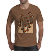 Awesome Funny Ostriches in the Sand Abstract Mens T-Shirt