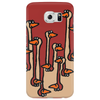 Awesome Funny Ostriches in the Sand Abstract Phone Case