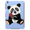 Awesome Funny Panda Bear with Red Rose Tablet