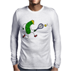 Awesome Funny Pickle Playing Tennis Cartoon Mens Long Sleeve T-Shirt
