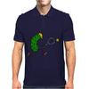 Awesome Funny Pickle Playing Tennis Cartoon Mens Polo