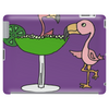 Awesome Funny Pink Flamingo and Lime Margarita Glass Tablet