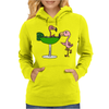 Awesome Funny Pink Flamingo and Lime Margarita Glass Womens Hoodie