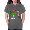 Awesome Funny Pink Flamingo and Lime Margarita Glass Womens Polo