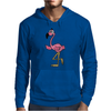 Awesome Funny Pink Flamingo Bird Mens Hoodie
