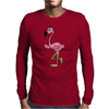 Awesome Funny Pink Flamingo Bird Mens Long Sleeve T-Shirt