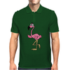 Awesome Funny Pink Flamingo Bird Mens Polo