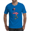 Awesome Funny Pink Flamingo Bird Mens T-Shirt