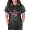 Awesome Funny Pink Flamingo Bird Womens Polo