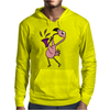 Awesome Funny Pink Flamingo Playing Saxophone Mens Hoodie