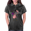 Awesome Funny Pink Flamingo Playing Saxophone Womens Polo