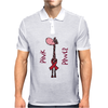 Awesome Funny Pink Giraffe Pink Power Art Mens Polo