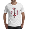 Awesome Funny Pink Giraffe Pink Power Art Mens T-Shirt