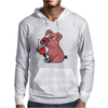 Awesome Funny Pink Pig Drinking Wine Art Mens Hoodie