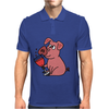Awesome Funny Pink Pig Drinking Wine Art Mens Polo