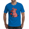 Awesome Funny Pink Pig Drinking Wine Art Mens T-Shirt