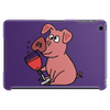 Awesome Funny Pink Pig Drinking Wine Art Tablet