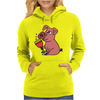 Awesome Funny Pink Pig Drinking Wine Art Womens Hoodie