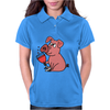 Awesome Funny Pink Pig Drinking Wine Art Womens Polo