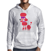 Awesome Funny Pink Poodle Dog Art Mens Hoodie