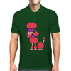 Awesome Funny Pink Poodle Dog Art Mens Polo