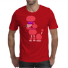 Awesome Funny Pink Poodle Dog Art Mens T-Shirt
