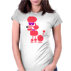 Awesome Funny Pink Poodle Dog Art Womens Fitted T-Shirt