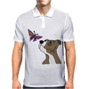 Awesome Funny Pitbull Puppy and Butterfly Mens Polo