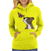 Awesome Funny Pitbull Puppy and Butterfly Womens Hoodie