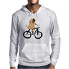 Awesome Funny Pug Puppy Dog Riding Bicycle Mens Hoodie